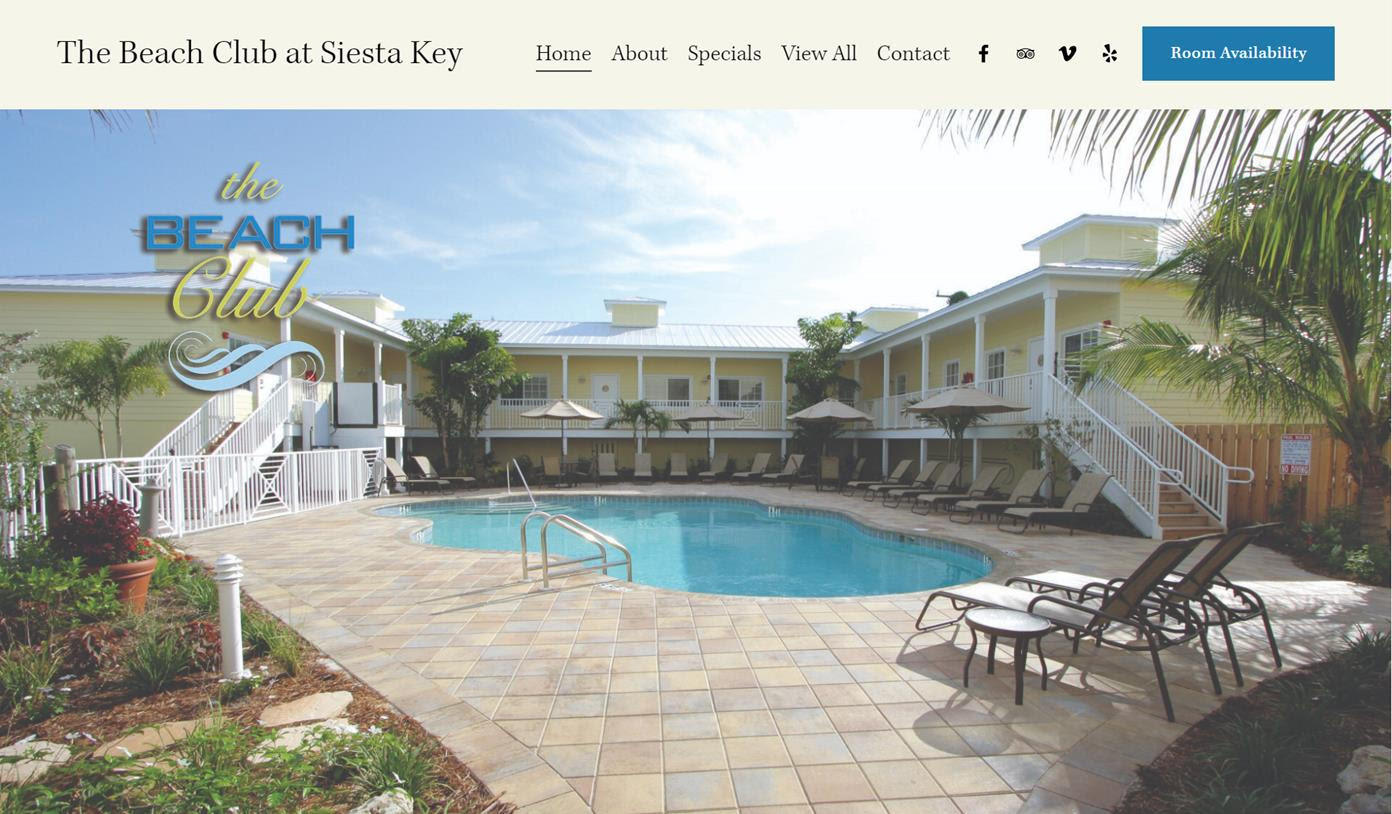 New Website for The Beach Club at Siesta Key