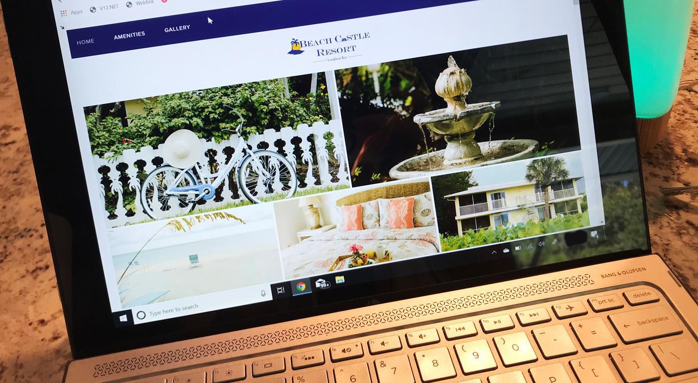 Beach Castle Resort Website by RVA Longboat Key