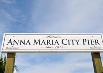 Anna Maria City Pier on Anna Maria Island, Florida with RVA