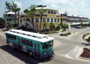Anna Maria Island Trolley in Anna Maria, Florida with RVA