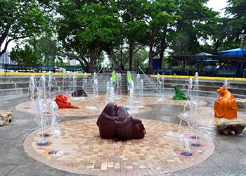 Bayfront Splash Park in Sarasota, Florida with RVA