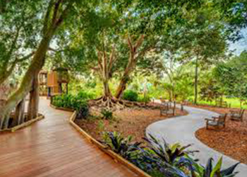 Rainforest Garden at Selby Gardens in Sarasota, FL with RVA