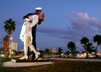 Unconditional Surrender Statue in Sarasota, Florida with RVA