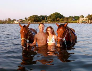 Beach Horses on Anna Maria Island with RVA Vacation Rentals
